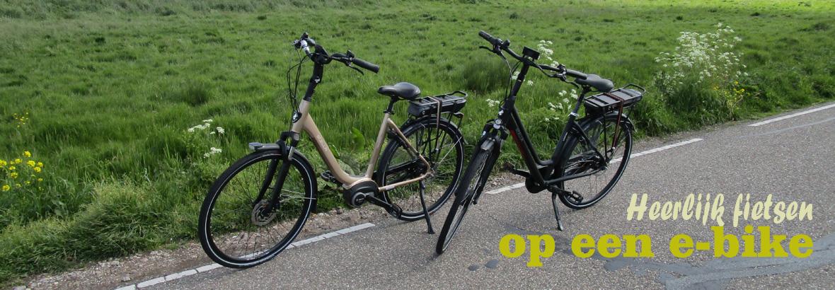 Heerlijk fietsen op een e-bike