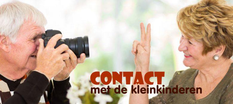 Contact houden met de kleinkinderen